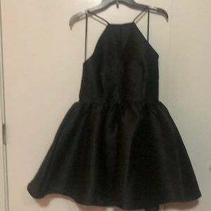 New Black Buttercup Satin Dress